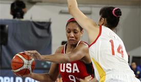 2018年女篮世界杯小组赛 中国不敌美国