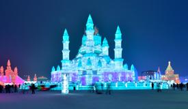 哈尔滨冰雪大世界美如童话
