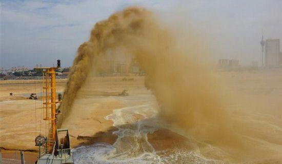 科伦坡港口城项目填海造地工程完工